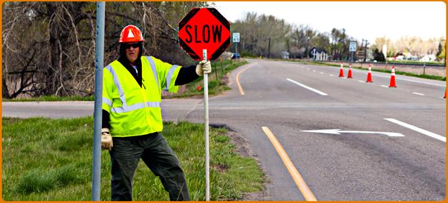 Flagging, Cone Zone, Traffic Control, Flagging